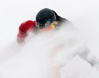 Snowboard wall art, Winter  wall art, Snowboard print, winter canvas art, winter photography, Snow Mountains, Sports Photography