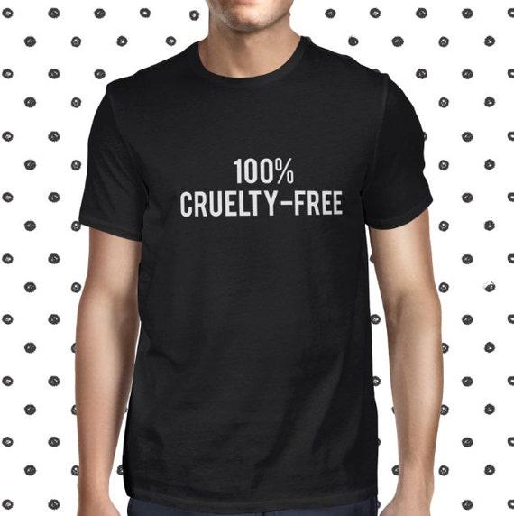 Friends Not Food Tshirt for Men - Male Vegan Clothing - Save Animals Tee - Vegan Slogan Shirt for Men - Animal Rights Shirt - Cool Vegan Tee