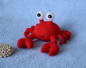 Crochet Crab, Crab toy, Amigurumi Crab, Crochet toy, Crab Plush, Amigurumi animals, Knitted toys, Crocheted animals, Crab stuffed animals.