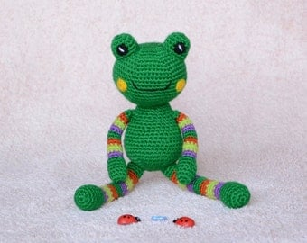Crochet toy, Toy Frog, Stuffed Frog, Crochet Frog, Amigurumi Frog, Stuffed Animals, Amigurumi animals, Crocheted animals, Knitted toys.