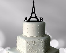 Eiffel Tower Cake Topper | Personalised Cake Topper | Custom Paris Cake Topper | Personalised Wedding Cake Topper | Acrylic Cake Topper