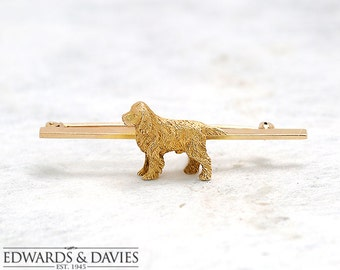Gold Golden Retriever Pin Brooch | Dog Brooch | Dog Lapel Pin  | Antique Jewelry | Antique Jewellery | Antique Brooch | Golden Retriever