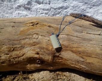 Neck lighter holder, adjustable lighter holder,  sage green genuine leather lighter holder