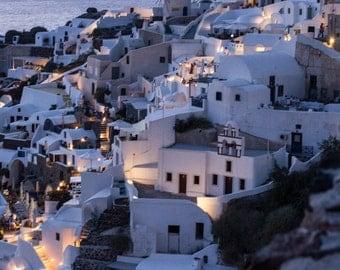 Sunset photography art, seascape Santorini Greece photography