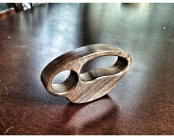 Walnut Knuckle Duster Ring