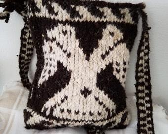 Handmade Chrochet Goat Wool Satchel