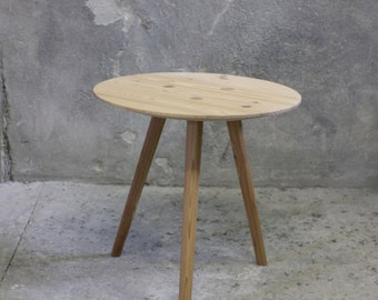 Large IDA - side table, occasional table, stool - spruce ~ old wood