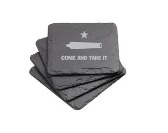 Come and Take It - Slate Coaster Set