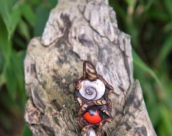 Handmade Wayruro Seed and Shell Talisman