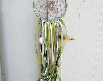 Olive Green Lotus Dream Catcher