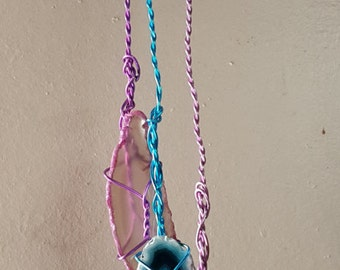 Agate and charm Suncatchers, 3 different Suncatchers are available each different, please specify 1, 2 or 3