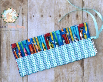 Crayon Roll Up | Crayon Roll | Crayon Holder | Toddler Activities | Back to School Supplies | Preschool Supplies