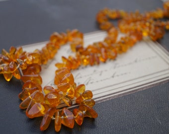 vintage real amber chunky necklace