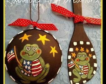 Frog Decor. FAAP Patriotic Decor