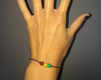 Simple Rasta Inspired Bead Bracelet