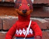 FANTASY FABRIC TOY, Hipster Fox, Stuffed Fox Toy, Fabric Animals, Fox Stuffed Animal, Soft Animals, Unique Animals Toys, Mr.Fox