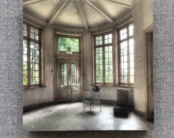Chair in abandoned sanatorium
