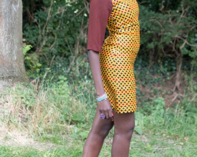 African print dress, short African print dress, short dress, short Ankara dress, Casual dress