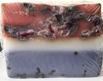 100% Handmade Rose garden soap bar