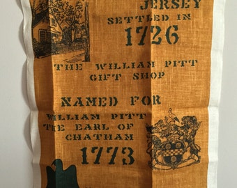 Kay Dee Handprints Linen Tea Towel Chatham New Jersey