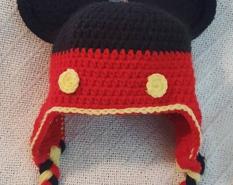 Crochet Mickey Mouse Hat 6mo