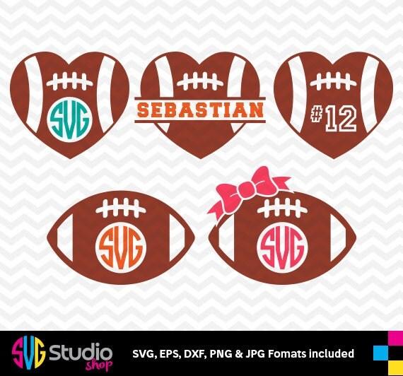 American Football Hearts Svg Files Silhouette Die Cut Vinyl