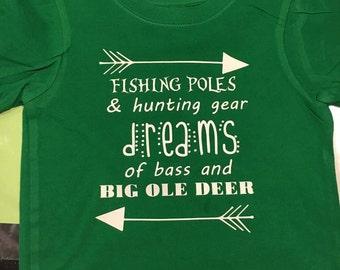 Boys Fishing Pole Shirt