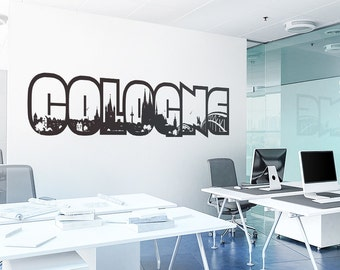 Wall decals Cologne - wall stickers wall stickers mural decal sticker skyline Cologne - 5 sizes colours motif W105