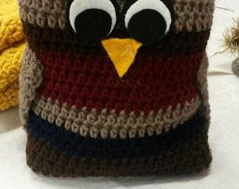 Little Owl Doorstop Maroon