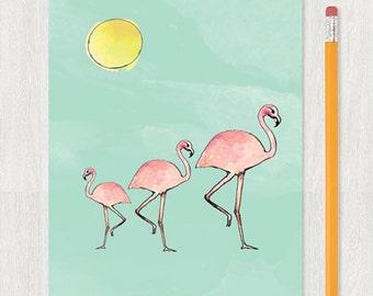flamingo // sunglasses Notebook