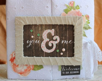 Wedding photo album Rustic scrap album