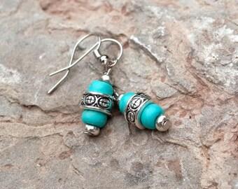 Earrings. Long earrings. Turquoise earrings. Turquoise. Earrings turquoise beads. Earrings. Turquoise earrings. Earrings hook.