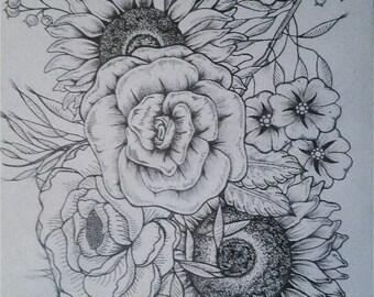 Massive Flowers Print