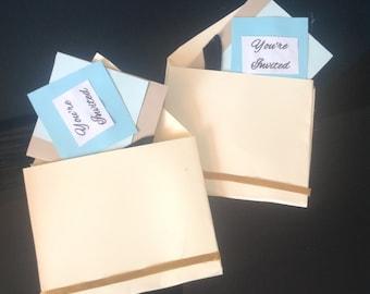 Elegant and sleek envelopes