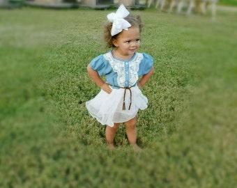 Toddler dress, baby girl dress, girls dress, summer dress, boutique dress, denim dress, girl dress