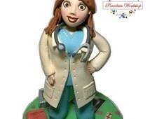 cake topper doctor, doctor cake topper, doctor souvenirs, souvenir graduation, doctor graduation, doctor dolls, doctor figure, dolls doctor