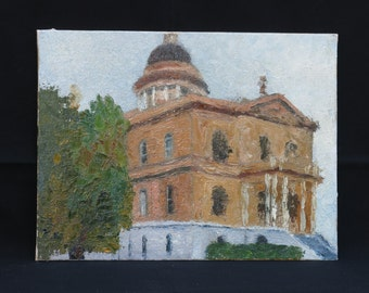 Original Oil Painting, Auburn Courthouse