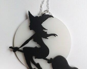 Witch acryl necklace