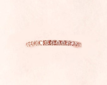 Single Rose Pave Eternity Ring