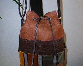 Bag leather, the suede and velvet