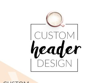 Custom Blog Header Design OOAK / Beauty Blog Header / Blogger Custom Blog Design / Minimalist Blog Header / Wordpress Blog Logo Design