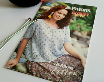 1997 Patons Sunny Days Summer Sweaters Knitting Pattern
