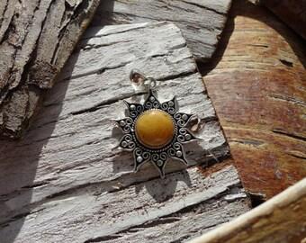 "Pendant ""collection ancient Sun"" orange aventurine"