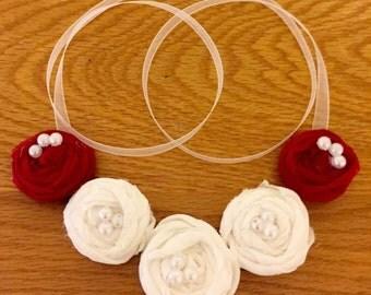 Romantic Five Flowers Necklace