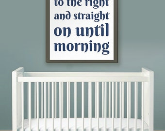 """Printable Art 8x10 Download: """"Second Star to the Right"""" Nursery or Children's Print"""