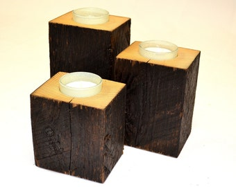 3 piece candlestick / Candle holder 3 piece