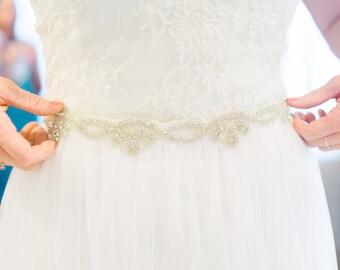 Beaded Scalloped Bridal Belt