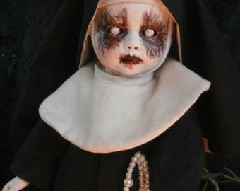 REDUCED PRICE!!! Creepy Nun Shadow Doll