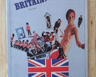 1968 Great Britain This Year Travel Guide published by The British Travel Association. Vintage Travel guide. Vintage Great Britain.
