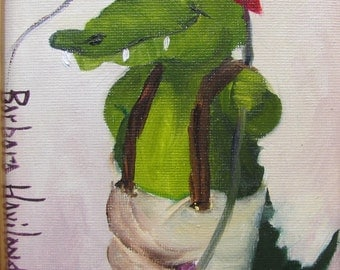 Gator Fishing  Barbara Haviland Barbsgarden Texas Artist